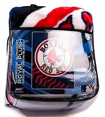 BOSTON RED SOX Logo Supersized Super Plush ThrowBlanket FREE Adorable Red Sox Throw Blanket