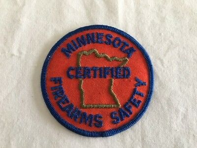 Vintage Patch Minnesota Certified Firearms Safety Embroidered Sew On