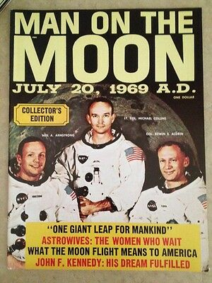 Man on the Moon July 20 1969 Magazine Collector Edition Armstrong Aldrin Collins