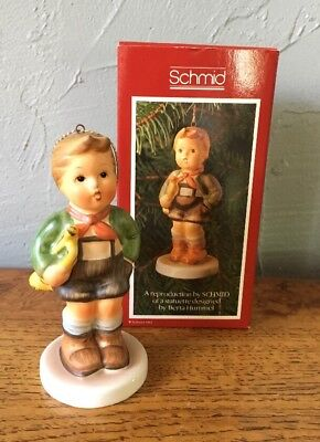 "Vintage Schmid ""Hark The Herald"" Christmas Ornament 1983 Hummel Repro W/Box"