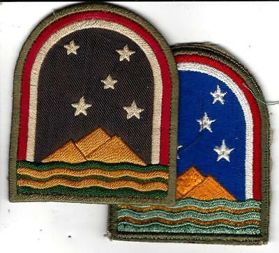 WW2 Super, used, theatre made/  handmade South Atlantic Forces patch & a US made