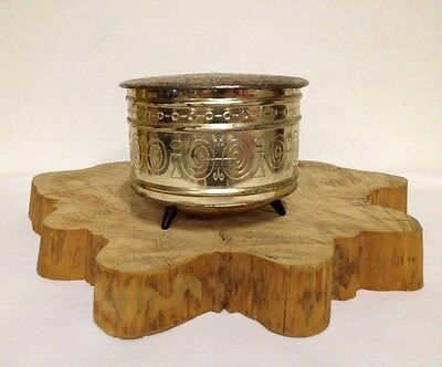 Vintage Tin Container Made in W.Germany Copper/Gold Tone Tobacco-Coffee-Trinket