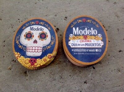 "Modelo Dia Los Murtos Beer Coasters. You Receive ""20"" Coasters Free Shipping"