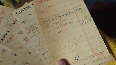 Vintage Bakery Capital Bakers Inc. 1942 receipts