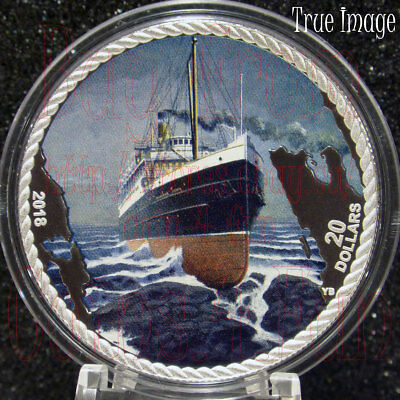 2018 The Sinking of the SS Princess Sophia $20 1OZ Pure Silver Proof Coin Canada