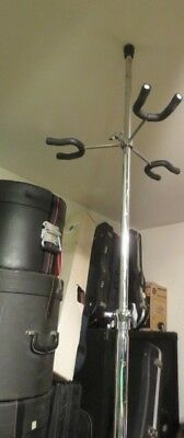 Commercial Telescoping 6-Guitar Stand Extends To 8'