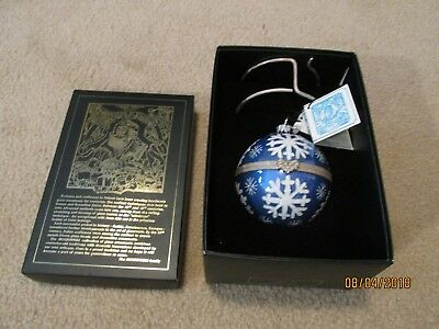 Komozja Mostowski Hinged Glass Ornament from Poland In Box