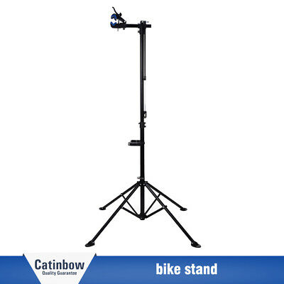 """Pro Bike Adjustable 42"""" To 74'' Cycle Bicycle Rack Repair Stand w/Tool Tray blue"""