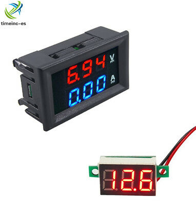 DC100V 10A Blue+Red Amp LED Dual Ammeter Voltmeter Digital LED Voltage Meter