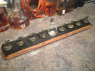 REAL Barrel Head Stave Blanton's Display W/ Mini Blantons Wood Stopper Bourbon