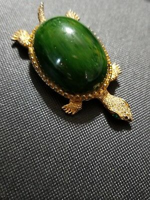 Lot of vintage antique jewelry GRANDMA'S Estate TURTLE BROOCH GREEN