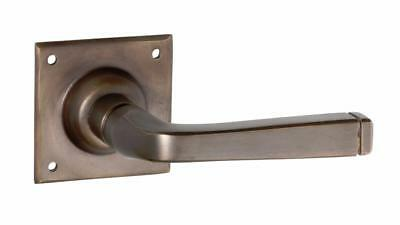 Antique brass menton contemporary lever door handle,passage set,square base 0680