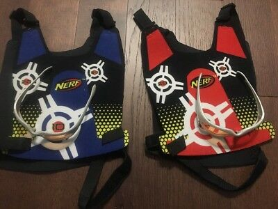 Nerf Dart Tag Lot 2 Outer Wear Vests And 2 Eyewear Glasses Protection