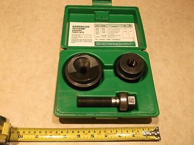 """Greenlee 737BB 1-1/2"""" & 2"""" Ball Bearing Knockout Punch Set with Hard Case"""