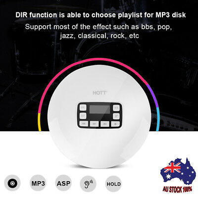 HOTT Portable CD Player,HOTT Portable Personal CD Player with Headphone Jack New