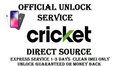 New Official Cricket Iphone Unlock Service 5S,  6+, 6S, 6S+, 7 7+  8, X,