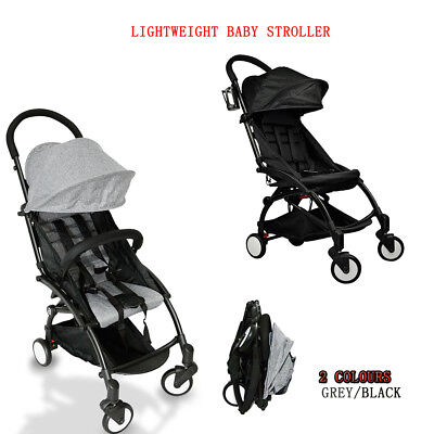 Compact Lightweight Baby Stroller Pram Easy Fold Pushchair Travel Carry on Plane