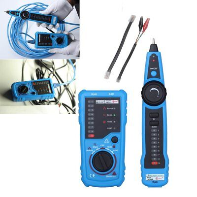 Telephone Phone RJ45 RJ11 Wire Tracker Tracer Ethernet LAN Network Cable Tester~