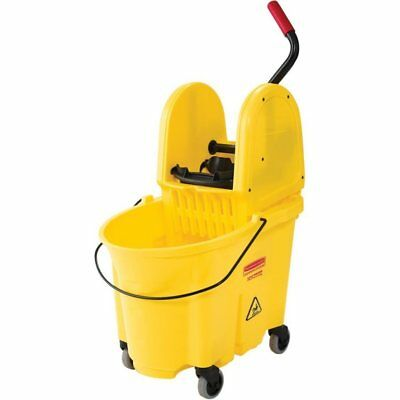 Rubbermaid Commercial 7577-88 WaveBrake 35-Quart Bucket/Wringer Combo, Yellow