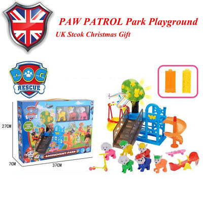 cca845eb PAW PATROL Park Playground 8PCS Chase Rubble Katie Ryder Figures Kids Toys  Gift