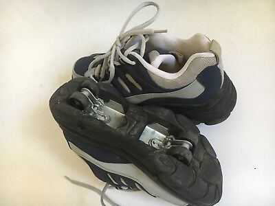 URBAN RIDER SKATE TRAINERS  (Heely Style) BLUE GREY UK 8.5 - 9.5 Great Condition