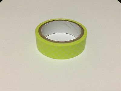 Washi Tape - Bright Yellow with White polka dots