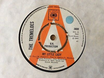 "The Tremeloes, My Little Lady, 1968 UK 7"" Promo, CBS ‎– 3680"