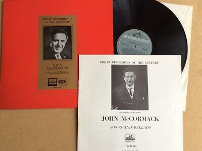 John McCormack, Songs and Ballads, Great Recordings of the Century, 1960s LP