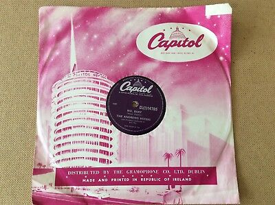 "The Andrews Sisters, No Baby/Rum & Coca Cola, 1950s Irish 10"",Capitol CL(i)14705"