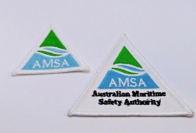 Two Australian Maritime Safety Authority Patch / Badge