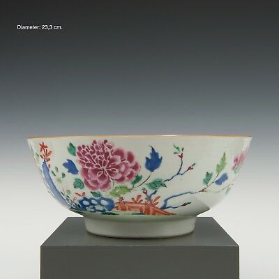 Nice large Chinese Famille rose bowl, peony, 18th century.
