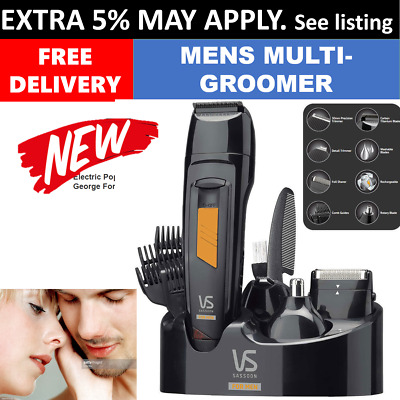 New VS Sassoon Beard Trimmer Hair Clipper Shaver Stubble Moustache Gromer Men