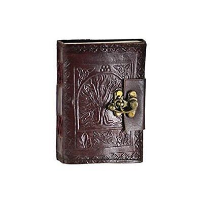 Leather Celtic Tree of Life Book of Shadows Blank Spell Book Wicca FAST SHIPPING