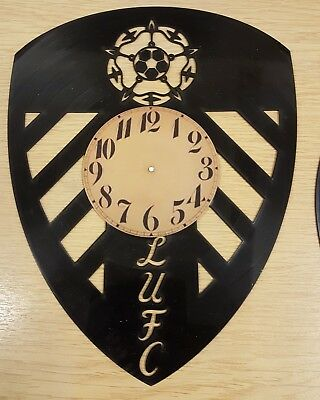 Leeds United Vinyl Record Clock home decor gift