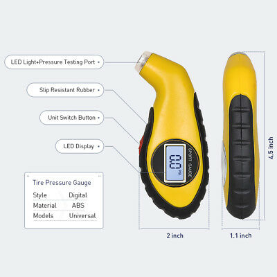 Digital Tire Pressure Gauge Car Bike Truck Auto Air PSI Meter Tester Tyre Gauge