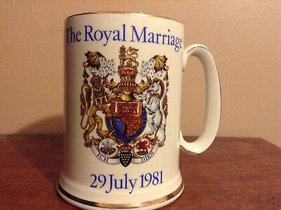 Royal Wedding 1981 Tankard ( Charles & Diana )