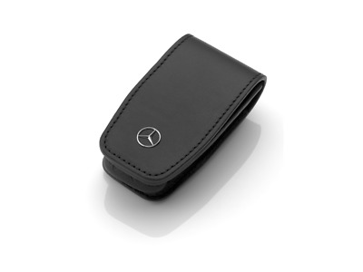 Genuine Mercedes-Benz Black Stainless Steel Leather Key Wallet Gen 6 B66958408