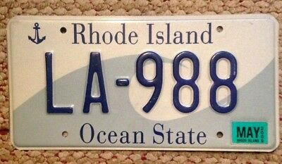 Rhode Island Graphic Wave & Anchor Ocean State License Plate R.i. Auto Tag Sea