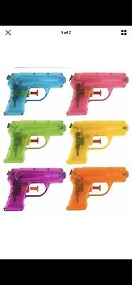 Small Water Gun Orange, Pink, Purple, And Blue 11Cm Kids Outdoor Party Toy Gift