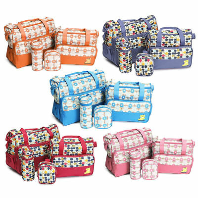 5PCS Baby Nappy Changing Maternity Bag Set by G4RCE,Beautiful Themes Colors UK