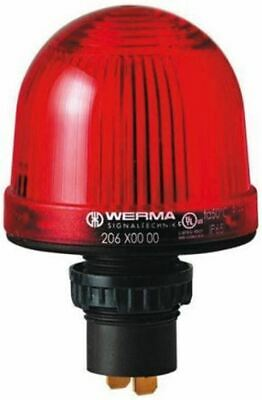 LED, Steady Beacon 207 Series, Red, Panel Mount, 230 V ac
