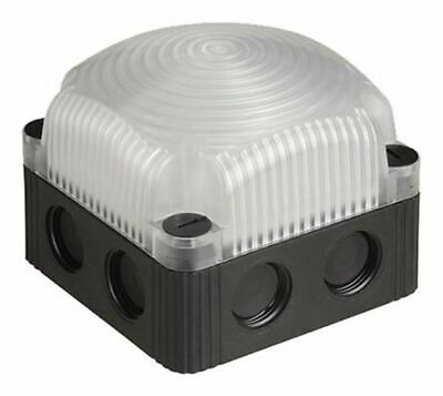LED, Steady Beacon 853 Series, Clear, Base Mount, 230 V ac
