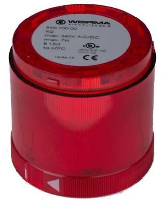 KombiSIGN 70 840 Beacon Unit, Red Incandescent, Steady Light Effect, 230 V ac, 2