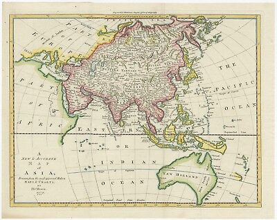 A New & Accurate Map of Asia - Bowen (1779)