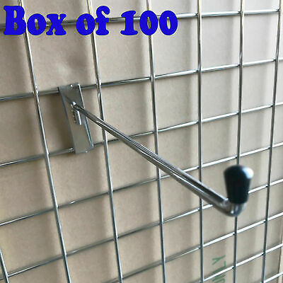 12 inch MESH HOOK GRID WALL GRIDWALL MESH CHROME ARM ARMS FOR RETAIL DISPLAY