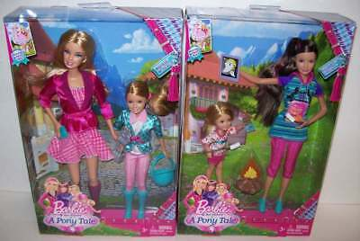 A Pony Tale Barbie & Stacie and Skipper & Chelsea Dolls NEW