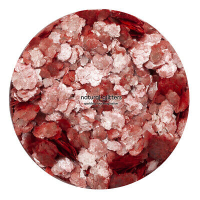 Strawberry Red/Silver Chunky Glitters, Eco Glitters, ideal for art and craft