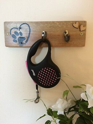 Handmade Wooden Dog Lead Plaque - Rustic - Shabby chic - reclaimed
