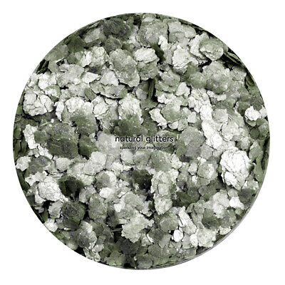 METAL GREEN Mica Flakes, ECO GLITTERS, ideal for craft - resin, paper etc.