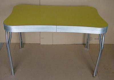 vintage 1950's mid century formica and chrome kitchen table diner style